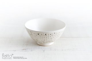 安田宏定|白釉墨彩めし碗(雫)