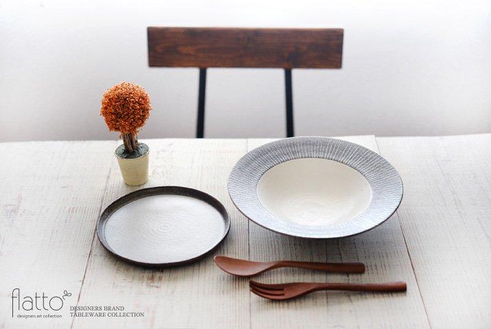 ケーキ皿18cm(白)作家「奥田章」-03