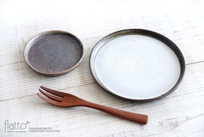 ケーキ皿18cm(白)作家「奥田章」-04
