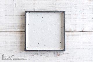 奥田章|リバーシブル角盛皿(20×20)|中皿