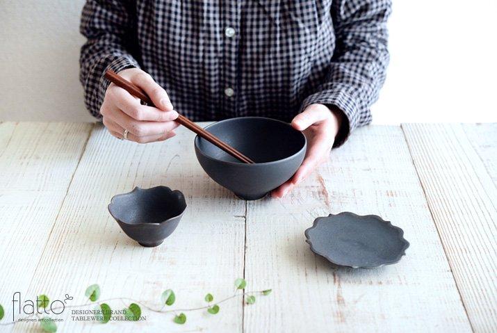 木下和美|黒釉めし碗(大)-04