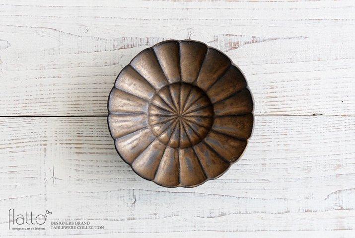 銅彩釉 モール向付|水野幸一|中鉢