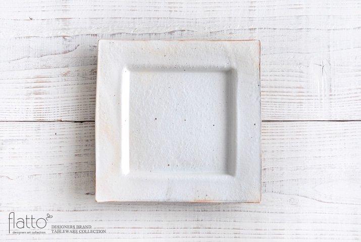 古谷浩一|鉄散 押型正角皿(大)