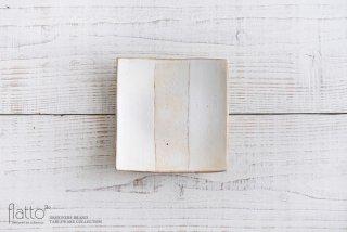 荒鉄線 4.5寸四方皿(浅)G 和食器作家「古谷浩一」
