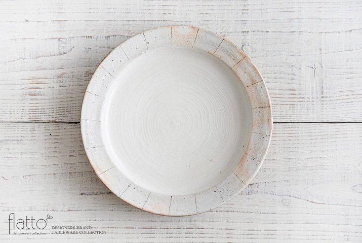 古谷浩一|たて鉄線 リブ8寸皿