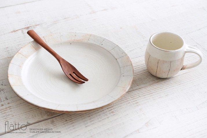 たて鉄線 リブ8寸皿 作家「古谷浩一」-04