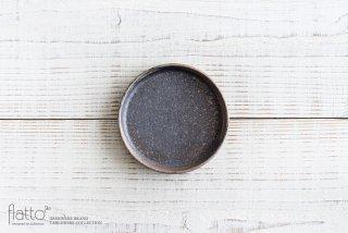 ケーキ皿12cm(茶) 作家「奥田章」