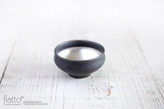 木下和美|黒釉銀彩ぐい呑み
