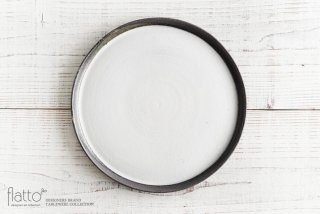 奥田章|ケーキ皿26cm(白)|大皿