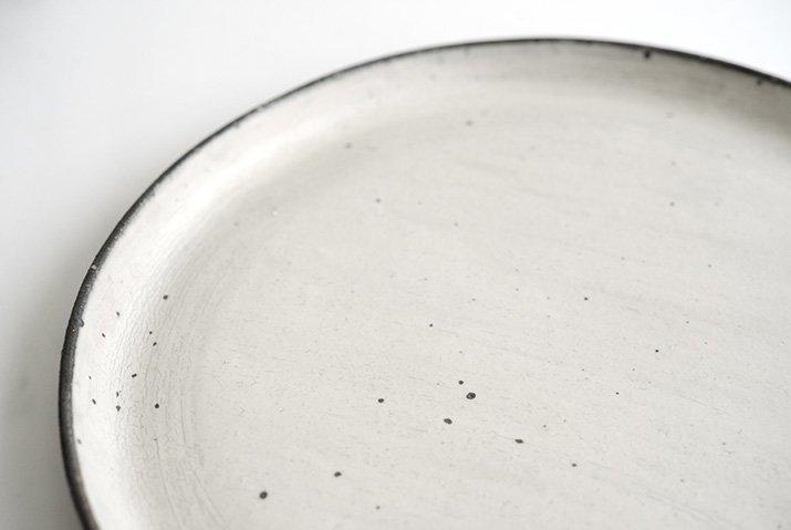 奥田章|ケーキ皿26cm(ひび)-02