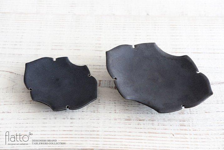 木下和美|黒釉蝙蝠豆皿-04