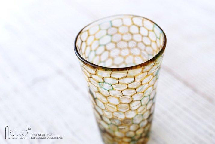 吉村桂子|イロアミショットグラス(YG)-02