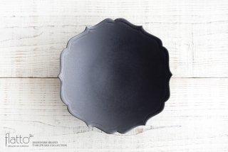木下和美|黒釉輪花鉢