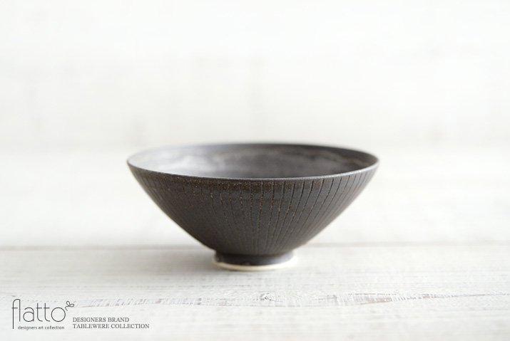shiro-kuro 飯碗(平・黒) 作家「トキノハ」