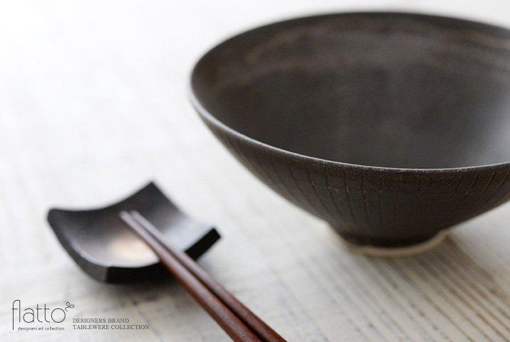 shiro-kuro 飯碗(平・黒) 作家「トキノハ」-02
