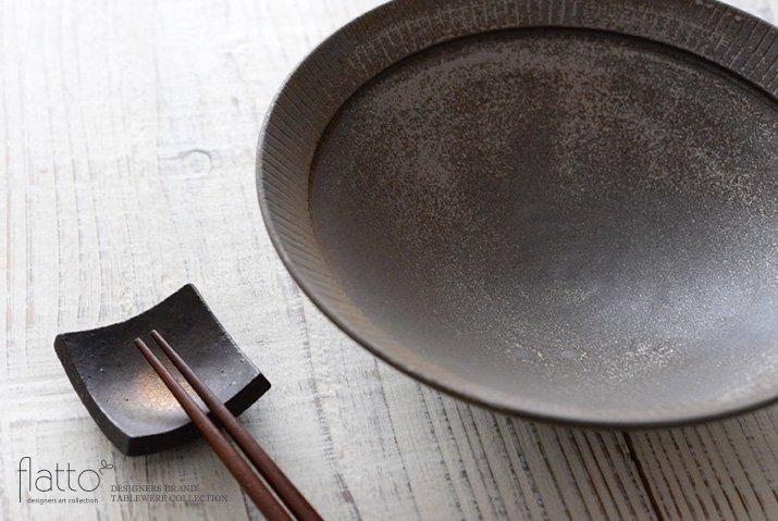 トキノハ|shiro-kuro 6寸鉢(黒)-02