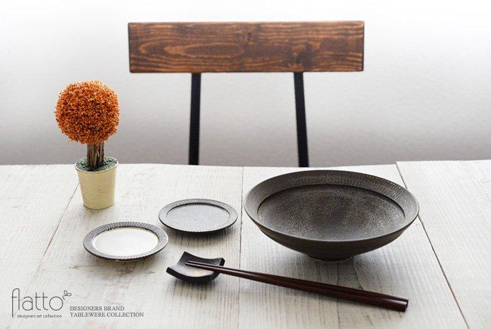トキノハ|shiro-kuro 6寸鉢(黒)-03