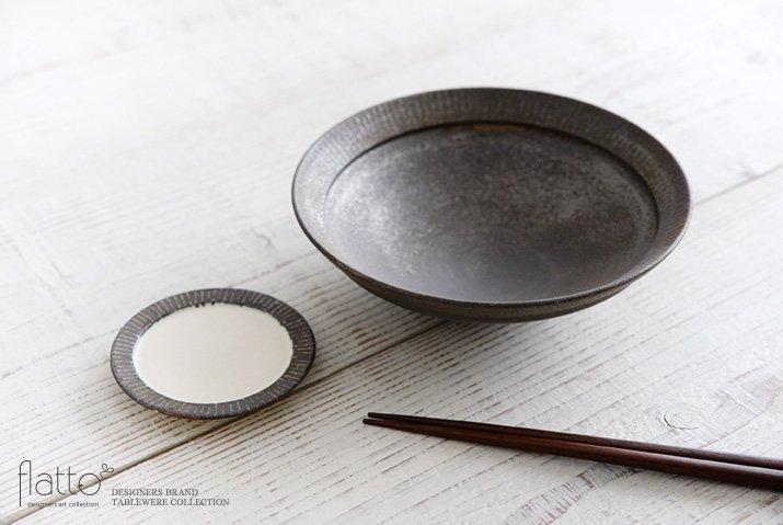 トキノハ|shiro-kuro 6寸鉢(黒)-04