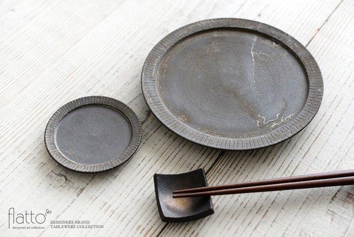 shiro-kuro 6寸皿(黒) 作家「トキノハ」-04