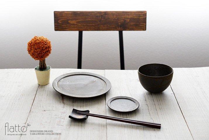 トキノハ|shiro-kuro 3寸皿(黒)-03