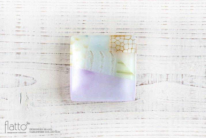 吉村桂子|ツギハギ角皿(8cm角)