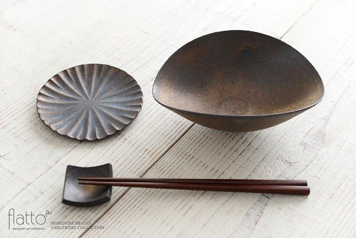 水野幸一|銅彩釉ひずみ鉢(小)-04