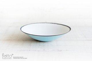 水野幸一|古白磁ツートンボール(小・浅・外青内白)
