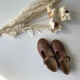 <img class='new_mark_img1' src='https://img.shop-pro.jp/img/new/icons53.gif' style='border:none;display:inline;margin:0px;padding:0px;width:auto;' />Brown T-strap Shoes