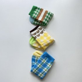 BLUE/GREEN/KUMA set socks