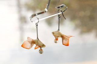 Origami Jewelry <br/>「金魚」 <br/>ピアス/イヤリング<br/>Tバーミリオン<br/>