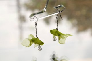 Origami Jewelry<br/> 「金魚」 <br/>ピアス/イヤリング<br/>ライム<br/>
