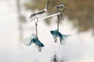 Origami Jewelry <br/>有澤悠河 作 「金魚」 <br/>ピアス/イヤリング<br/>ウォーター<br/>