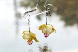 Origami Jewelry<br/> 「ぞうさん」 <br/>ピアス/イヤリング<br/>きいろ<br/>