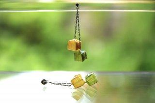 Origami Jewelry<br/> 「fuhsen」 double<br/>ピアス/イヤリング<br/>なのはないろ ひわもえぎいろ<br/>