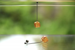 Origami Jewelry<br/> 「fuhsen」single <br/>ピアス/イヤリング<br/>みかんいろ<br/>