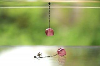 Origami Jewelry<br/> 「fuhsen」single <br/>ピアス/イヤリング<br/>こうばいいろ<br/>