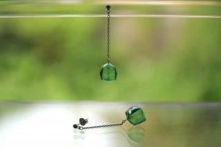 Origami Jewelry<br/> 「fuhsen」single <br/>ピアス/イヤリング<br/>みどりいろ<br/>