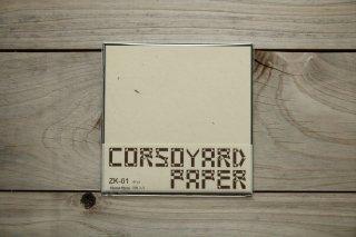 CORSOYARD PAPER<br/>ZK-01<br/>粕紙・主に楮チリ<br/>15cm角<br/>
