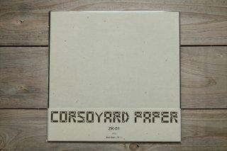 CORSOYARD PAPER<br/>ZK-01<br/>粕紙・主に楮チリ<br/>30cm角<br/>