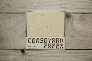 CORSOYARD PAPER<br/>ZG-11<br/>粕紙・主に雁皮チリ<br/>15cm角<br/>
