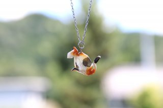 Origami Jewelry<br/>有澤悠河 作 「ねこ」 <br/>ネックレス<br/>ミケ<br/>