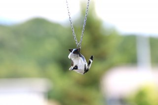 Origami Jewelry<br/>有澤悠河 作 「ねこ」 <br/>ネックレス<br/>ウシ<br/>