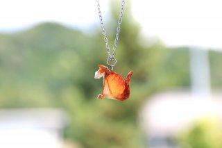 Origami Jewelry<br/>有澤悠河 作 「ねこ」 <br/>ネックレス<br/>チャトラ<br/>