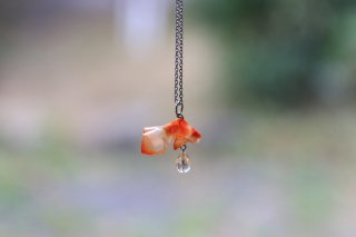 Origami Jewelry<br/> 有澤悠河 作 「金魚」 <br/>ネックレス<br/>各色