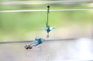 Origami Jewelry <br/>「tsuru」 <br/>ピアス/イヤリング<br/>みずいろ<br/>