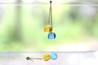 Origami Jewelry <br/>「fuhsen」double <br/>ピアス/イヤリング<br/>なのはないろ そらいろ<br/>