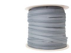#9 Coil Zipper Wolf Gray
