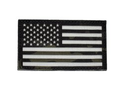 US Flag IR Patch - Multicam Black and Alpine