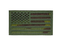 US Flag IR Patch - OD and Multicam Tropic