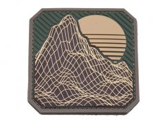 Retro Rock PVC Morale patch - Multicam